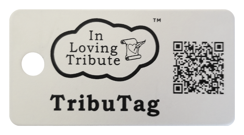 InLovingTribute rectangular Key FOB Tag